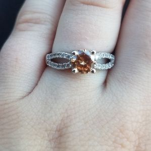 Fragrant Jewels Sz6 Champagne Colored Ring